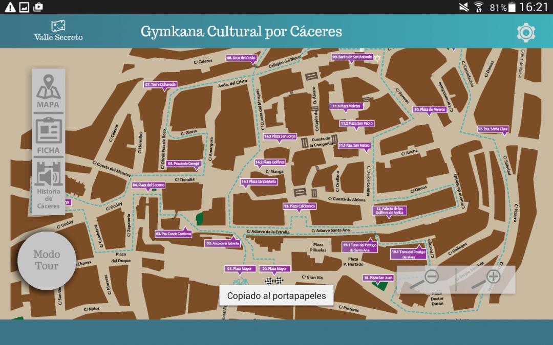 Mapa Turístico Accesible de Cáceres