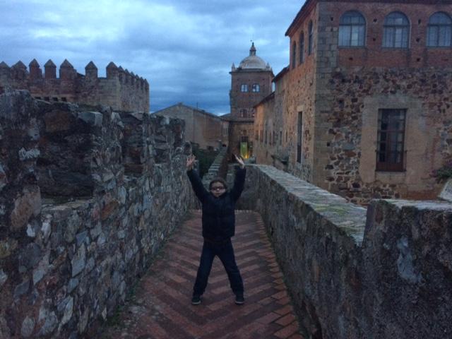 Desde la Torre Bujaco en Cáceres de Noche