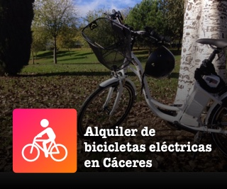 Alquiler de bicicletas eléctricas en Cáceres